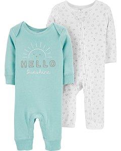 Conjunto com 2 pijamas sem pé - Sunshine