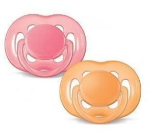 Chupeta BPA Free 6-18m Double Pack (Rosa/Laranja)