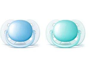 Chupeta Ultra Soft Dupla Lisa - 0-6 Meses Menino