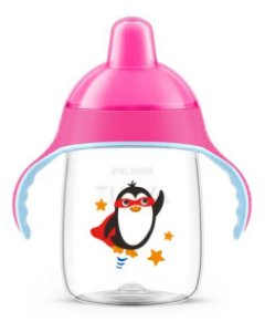 Copo Pinguim 330ml Rosa