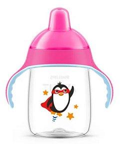 Copo Pinguim 330ml Rosa