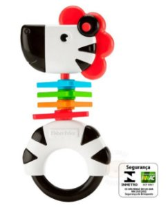 Chocalho Sortido Zebra - Fisher Price - 3M+