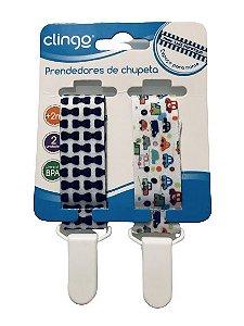 Prendedor de chupetas Carros- 2 unidades - Clingo