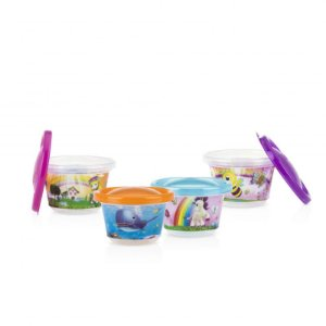 Kit 04 Potes Decorados 300ml - Feminino - Nuby
