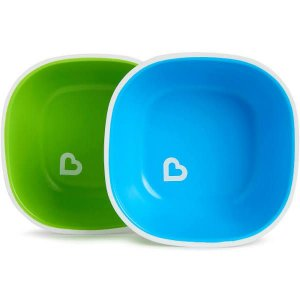 Conjunto de Tigelas Splash - Verde e Azul - 2 Unidades - Munchkin