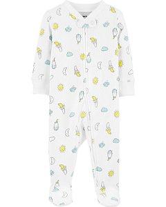 Pijama com pé - Sol e Lua