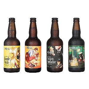 Kit 4 Cervejas Artesanais Utopia APL + APA + IPA + STOUT 500ml