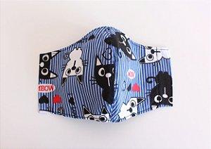 Máscara de Proteção Adulto - Gatinhos