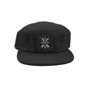 """Alpha & Omega"" Boné Preto Five Panel"