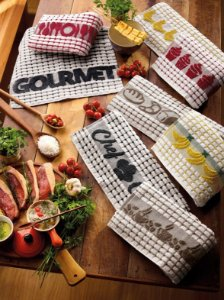 Pano de Copa Atoalhado Gourmet / Chef 42x63cm - TEKA