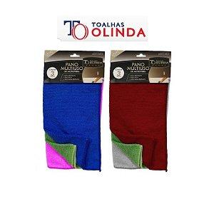 Kit Pano de Microfibra 3 peças - Olinda