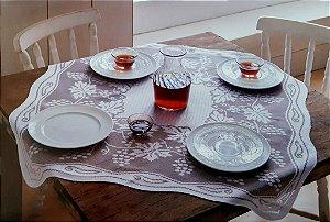 Toalha de Chá em Renda Modelo Uvas 0,78m x 0,78m - Rendam