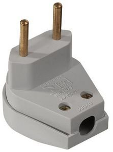 PLUGUE MACHO 2P 10A/250V BRANCO 39181