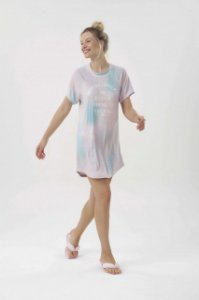 Camisola Adulto Manga Curta Tie Dye