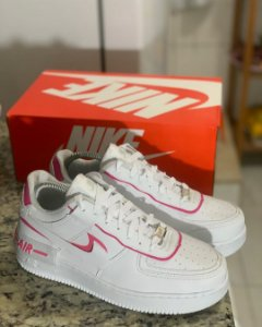 TÊNIS NIKE AIR FORCE SHADOW - BRANCO E ROSA