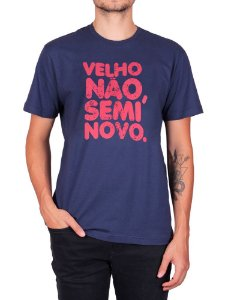 Camiseta Velho Não Semi Novo Marinho.