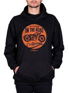 Moletom Canguru Moto The Road Preto