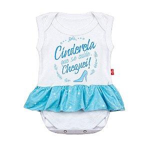 Body Bebê Com Saia Cinderela Branco