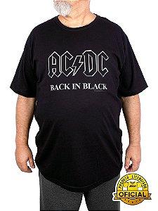Camiseta Plus Size ACDC Back In Black Preta