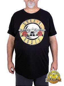 Camiseta Plus Size Guns N' Roses Bullet Preta
