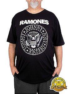 Camiseta Plus Size Ramones Logo preta