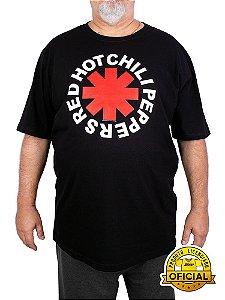 Camiseta Plus Size Red Hot Chili Peppers Preta