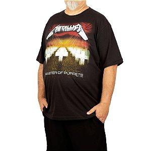 Camiseta Plus Size Metallica Master Of The Puppets Preta