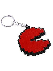 Chaveiro Pac Man Vermelho Emborrachado
