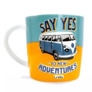 Caneca Ceramica Kombi Say Yes Adventure 390ml