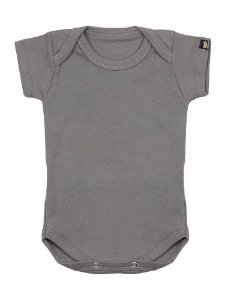 Body Bebê Básico Cinza