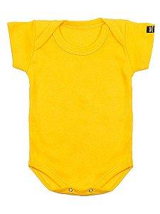 Body Bebê Básico Amarelo