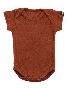 Body Bebê Básico Marrom