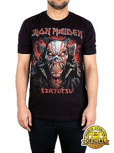 Camiseta Iron Maiden Senjutsu Snake Preta