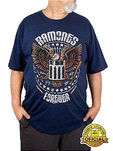 Camiseta Plus Size Ramones Forever Marinho