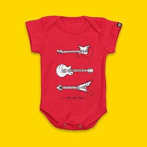 Body Bebê Futuro Guitarrista Vermelho