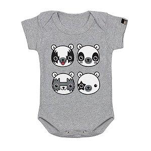 Body Bebê Kiss Bear Mescla