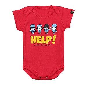 Body Bebê Help Vermelho