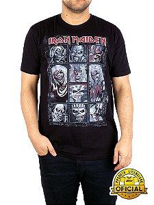 Camiseta Iron Maiden Eddy Preta
