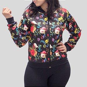 Jaqueta Bomber Floral Colorido