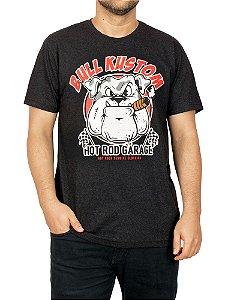 Camiseta Bull Dog Kustom Preto Jaguar.