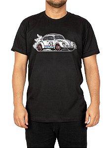 Camiseta Fusca Herbie Preta.