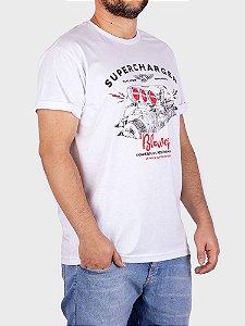 Camiseta Supercharger Blower Branca.