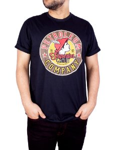 Camiseta Garage Petróleo Preta.