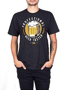 Camiseta Cerveja Profissional Preta Jaguar.