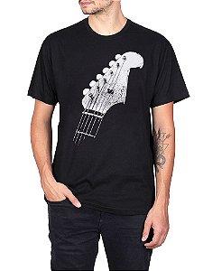 Camiseta Guitarra Chaves Preta.