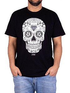 Camiseta Caveira Mexicana 2 Preta.