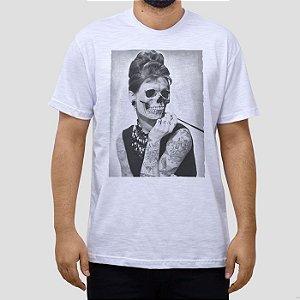 Camiseta Audrey Skull Repburn.