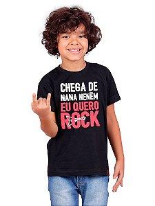 Camiseta Infantil Quero Rock Preta