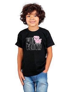 Camiseta Infantil Pig Floyd Preta
