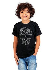 Camiseta Infantil Moto Icon Preta